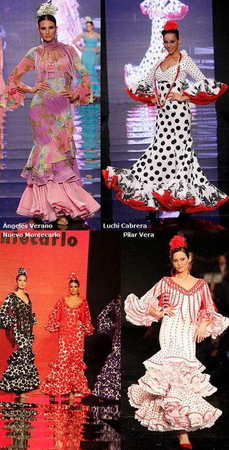 Adesivo De Geladeira Retro ~ Traje de flamenco para mujer