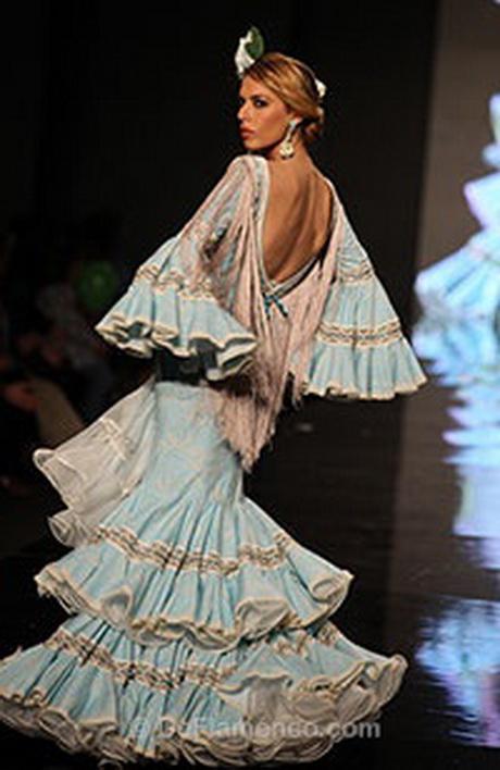 trajes de flamenca azules Archives - Entre cirios y volantes