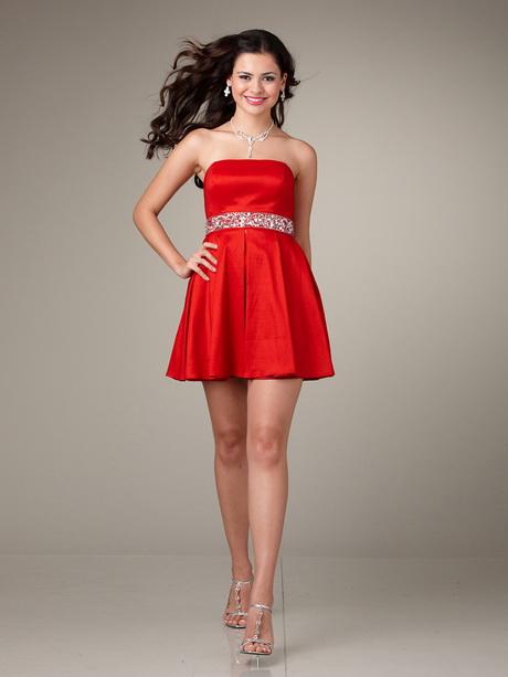 Vestido rojo strapless