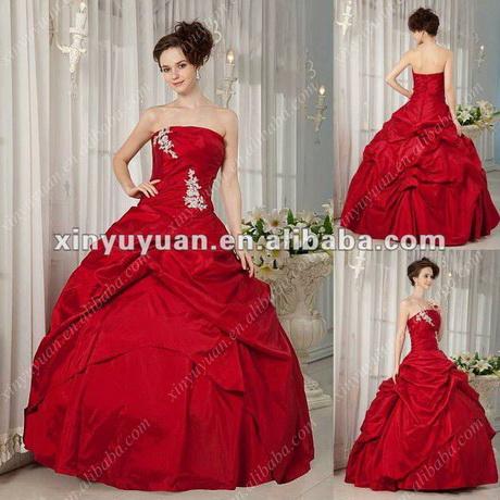 ... de tirantes bola volantes de color rojo apliques tafetán vestidos de