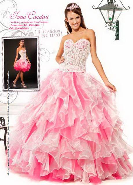 Vestidos de 15 años color rosa
