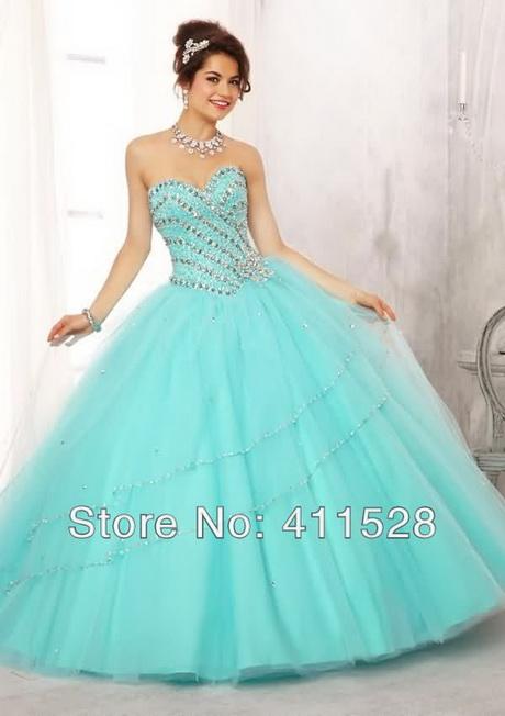 Vestidos De 15 Anos Color Aqua