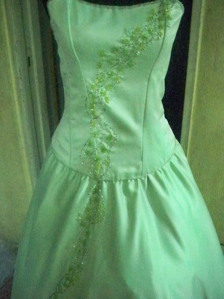 Vestido De 15 Anos Color Verde Jade Y Azul Vendo | Car ...