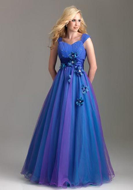 Foto de Vestido de 15 Años – Color Azul/Naranja