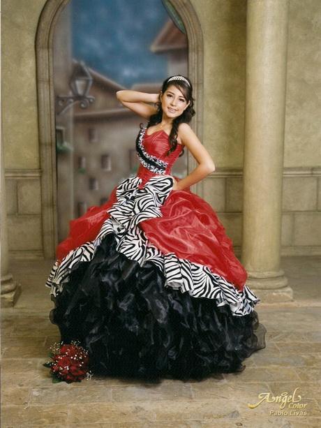 vestido de 15 años rojo y negro vestidos de rojo y negro