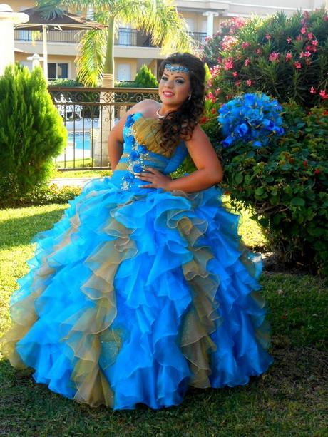 Vestido de xv aos azul turquesa vestido color azul for Color azul turquesa