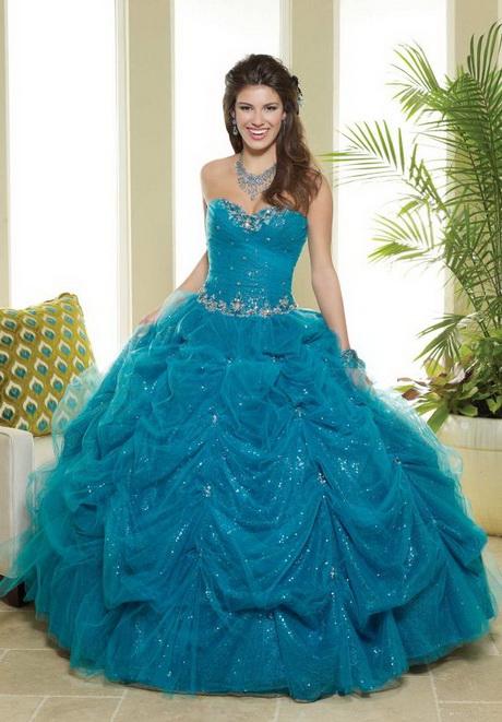vestidos de xv a os color azul turquesa