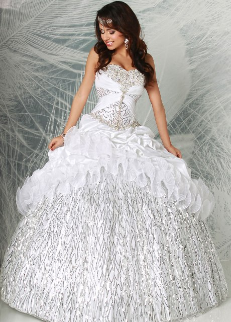 White Quinceanera Dresses 2014