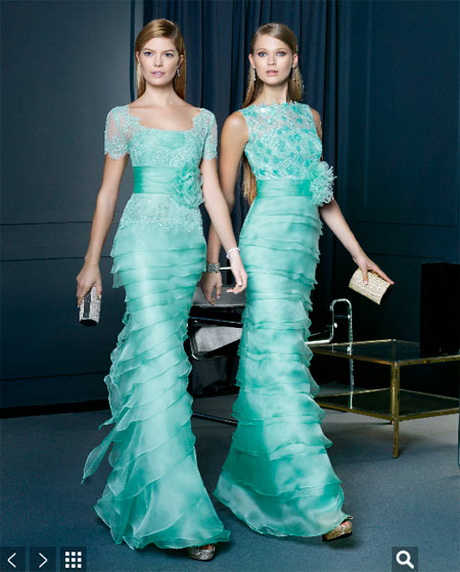 Вечернее бирюзовые платья от Rosa Clarа