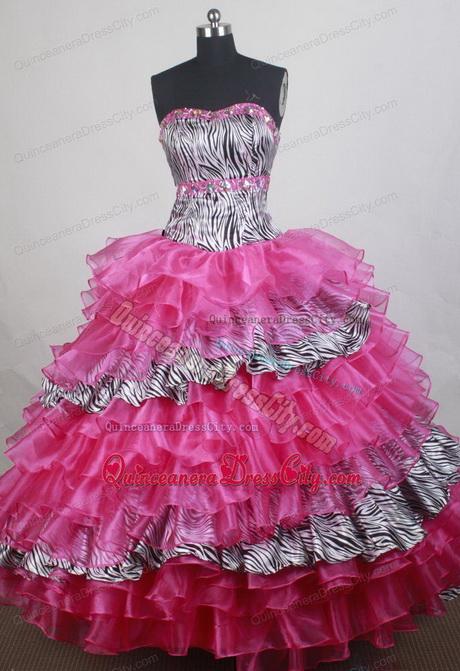 zebra quinceanera dresses