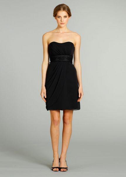 Vestido strapless negro