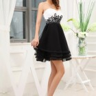 Vestidos color negro con blanco