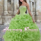 Green quinceanera dresses